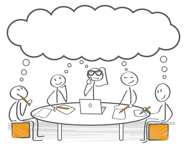 Gemeinsam nachdenken - Brainstorming - meeting