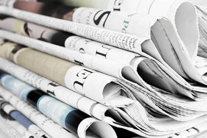 Werbung über Anzeigen in Zeitungen